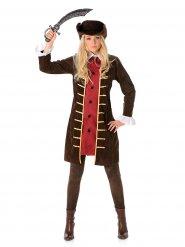 Bruin piraten kostuum voor vrouwen