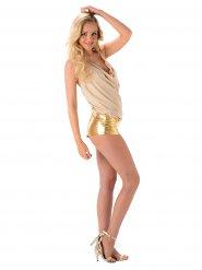 Sexy goudkleurig popster kostuum voor vrouwen