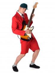 Rood rock kostuum voor mannen