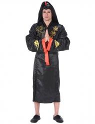 Zwart en goudkleurig samoerai kostuum voor volwassenen