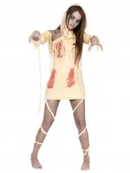 Bloederige mummie kostuum voor vrouwen