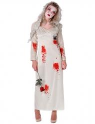 Bebloed zombie bruid kostuum voor vrouwen