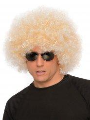 Enorme blonde jaren 70 afro pruik