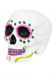 Roze Dia de los Muertos doodskop