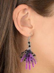 Paarse heksenhand oorbellen