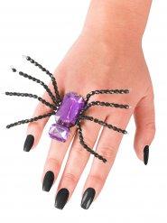 Paarse en zwarte spinnenring