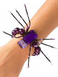 Paarse spinnen armband