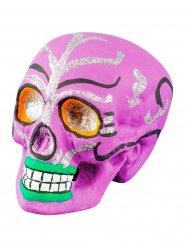 Roze Dia de los Muertos schedel decoratie
