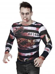 Zombie gevangene shirt voor heren