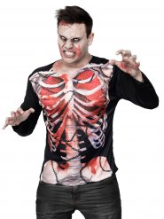 Zombie skelet t-shirt voor volwassenen