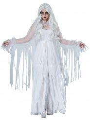 Elegant wit spook kostuum voor dames
