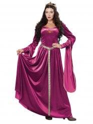 Paars middeleeuwse prinses kostuum voor dames
