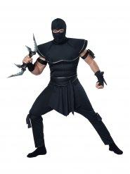 Duistere zwarte ninja outfit voor mannen
