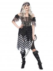 Duistere gothic piraten outfit voor vrouwen