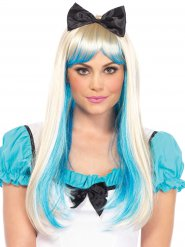 Luxe blonde en blauwe prinses pruik voor vrouwen