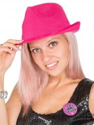 Roze met witte hoed voor vrouwen