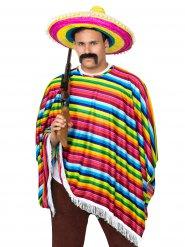 Mexicaanse poncho en sombrero voor volwassenen