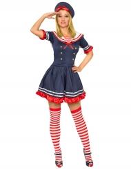 Blauw rood marine kostuum voor vrouwen