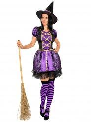 Magisch paars heks kostuum voor vrouwen
