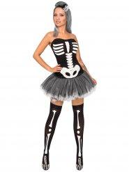 Sexy Halloween skelet kostuum voor vrouwen