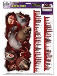 Monsterlijke ratten en bloedvlekken stickers