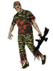 Camouflage zombie soldaat kostuum voor mannen