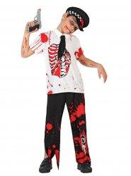 Bloederige zombie agent kostuum voor kinderen