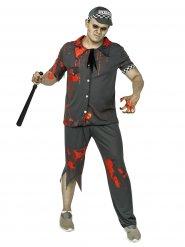 Grijs zombie politie agent kostuum voor mannen