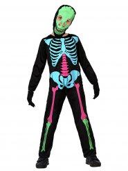 Veelkleurig skeletten kostuum voor kinderen