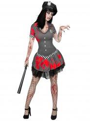 Zombie politie agente kostuum voor vrouwen