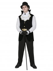 Zwart wit gentleman vampier kostuum voor mannen