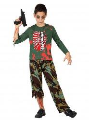 Zombie soldaat kostuum voor kinderen