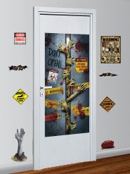 Set van 9 zombie muurdecoraties