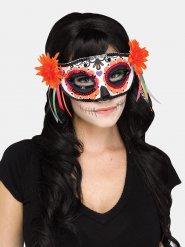Venetiaans Dia de los Muertos oogmasker