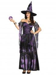 Paarse heks kostuum voor vrouwen