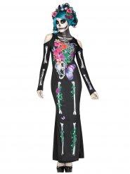 Mooi Dia de los Muertos kostuum voor vrouwen