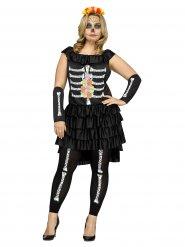 Dias de los Muertos skelet kostuum voor vrouwen