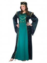 Groene middeleeuwse prinses jurk voor vrouwen