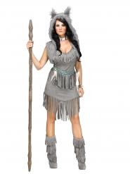 Grijs indianen kostuum voor vrouwen