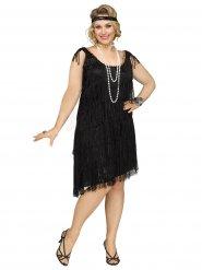 Zwart charleston kostuum voor vrouwen - Grote Maten