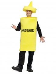 Gele tube mosterd kostuum voor volwassenen