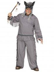 Grijs indianen jager kostuum voor volwassenen - Grote Maten