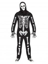 Pixel skelet kostuum voor volwassenen
