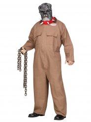 Bulldog gevangene kostuum voor mannen - Grote Maten