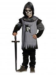 Zwart en grijs gothic ridder kostuum voor kinderen