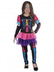 Kleurrijke skelet kostuum voor meisjes