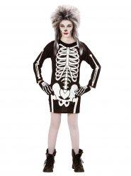 Zwart en wit skelet kostuum voor meisjes