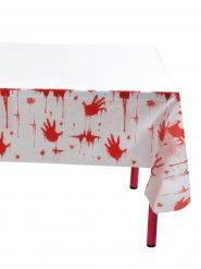 Bloederige afdrukken tafelkleed