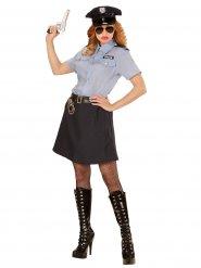 Klassieke politie agente outfit met rok voor vrouwen