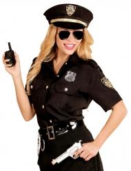 Zwart politie agente blouse met pet voor vrouwen